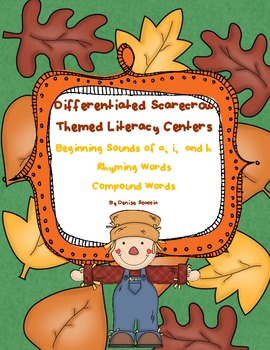 Differentiated Scarecrow Literacy Centers