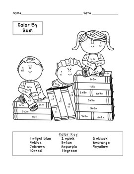 Differentiated School Days/Back to School Color By Sum