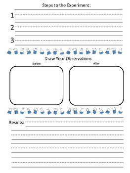 Differentiated Science Experiment Logs for Any Experiment