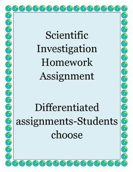 Differentiated Scientific Investigation Homework