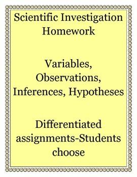 Differentiated Scientific Investigation Homework 2