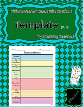 Differentiated Scientific Method Template (Version 3)