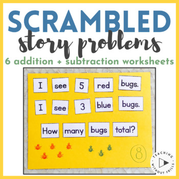 Differentiated Scrambled Sight Word Story Problems: Addition & Subtraction
