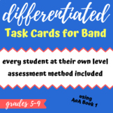 Differentiated, Self-Pacing Task Cards for Band