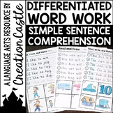 Differentiated Simple Sentence Worksheets