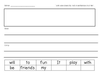 Differentiated Sentence Maker 2