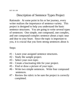 Differentiated Sentences with a Personal Touch RIT 181-200