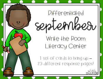 Differentiated September Write the Room Center