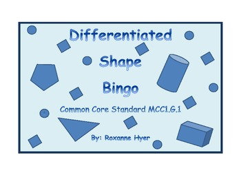 Differentiated Shape Bingo