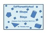 Differentiated Shape Bingo