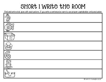 Differentiated Short I Word and Sentence Write the Room