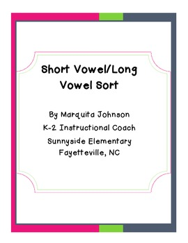 Differentiated Short/Long Vowel Sort