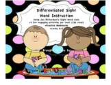 Differentiated Sight Word Activities A-G using Jan Richardson words
