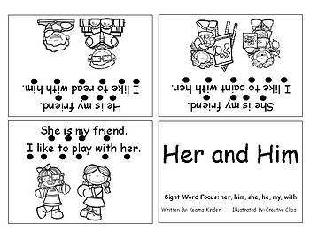Differentiated Sight Word Readers- Her and Him