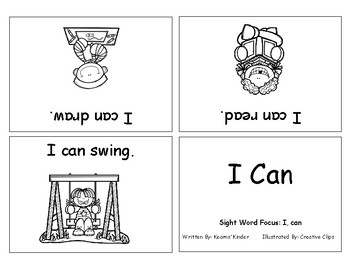 Differentiated Sight Word Readers- I Can