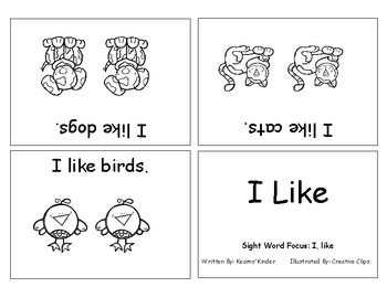 Differentiated Sight Word Readers- I Like