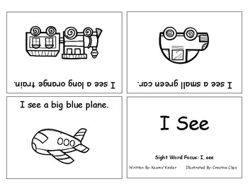 Differentiated Sight Word Readers- I See