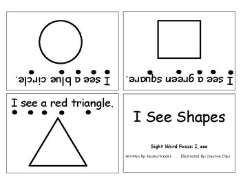 Differentiated Sight Word Readers- I See Shapes