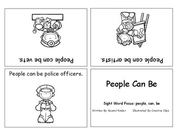 Differentiated Sight Word Readers- People Can Be
