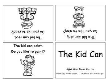 Differentiated Sight Word Readers- The Kid Can
