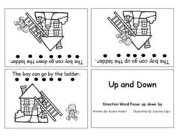Differentiated Sight Word Readers- Up And Down