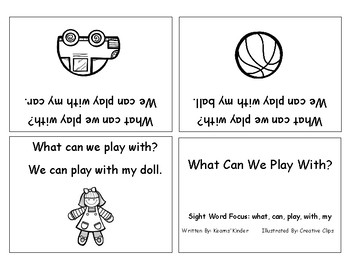 Differentiated Sight Word Readers- What Can We Play With