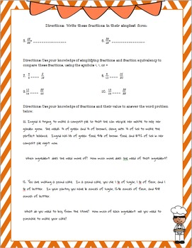 Differentiated Simplest Form Practice Pages with Fractions