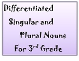 Differentiated Singular and Plural Task Cards Third Grade