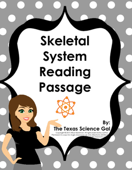 Differentiated Skeletal System Reading Passage