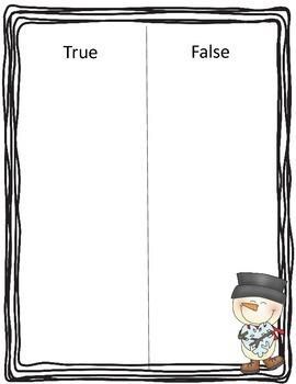 Differentiated Snowman True False Sort
