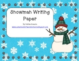 Differentiated Snowman Writing Paper Stationary