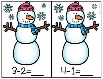 Differentiated Snowmen Bead Subtraction