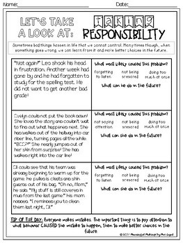 Differentiated Social/Emotional Reading & TDA; Conflict & Responsibility