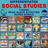 Differentiated Social Studies Themed Read-Aloud Activities SUPER BUNDLE