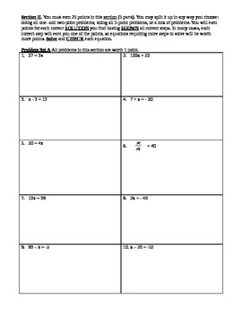 Differentiated Solving Equations Practice