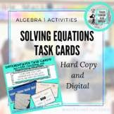 Differentiated Solving Equations Task Cards-Multi-Step, Proportional, Fractional