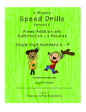 Differentiated Speed Drill Version C (Mixed Addition and S