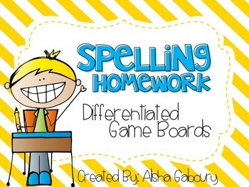Differentiated Spelling Homework