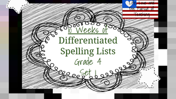 4th Grade Differentiated Spelling Lists-Set 1