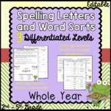 Differentiated Spelling Lists and Word Sorts with Letters/