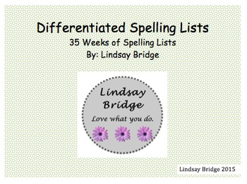 Differentiated Spelling Lists for First Grade