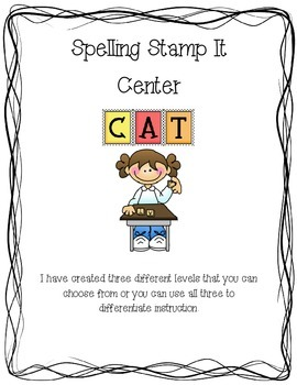 Differentiated Spelling Stamp It Center