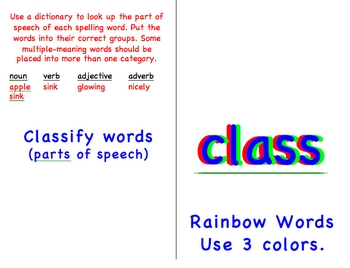 Differentiated Spelling for the Bulletin Board