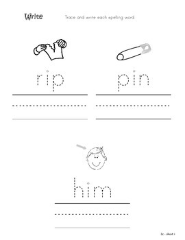 Differentiated Spelling/Phonics Practice 02 - short i
