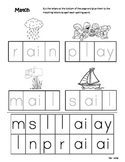*FREEBIE* Differentiated Spelling/Phonics Practice 18 - words with ai and ay