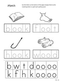 Differentiated Spelling/Phonics Practice 23 - words with oo