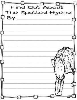 Differentiated Spotted Hyena Research Books