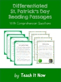 Differentiated St. Patrick's Day Reading Passages