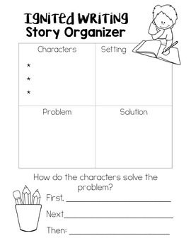 Differentiated Story Frames and Ideas Writing Wheel