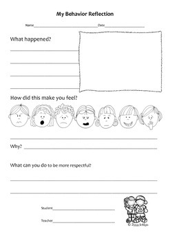 Student Behavior Reflection Sheets *Differentiated*